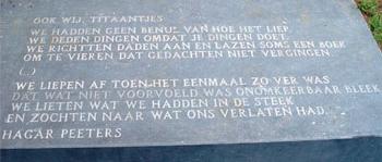 Hagar Peeters - 'Ook wij, Titaantjes' (fragment)
